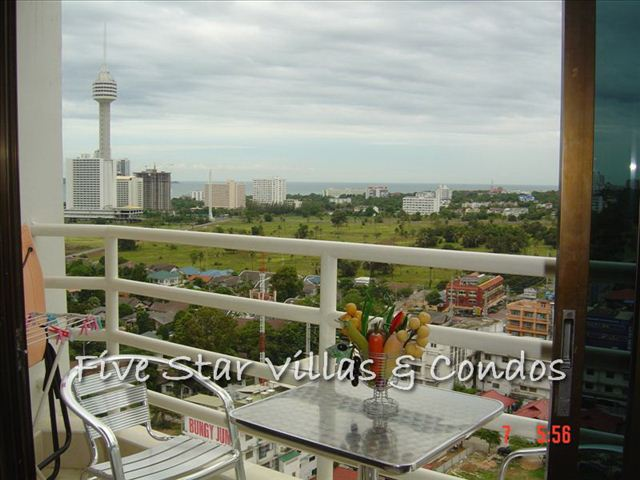 Condominium for rent in Jomtien at View Talay 2A showing the balcony