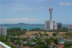 Condominium for rent in Jomtien at View Talay 2A showing the sea view