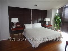 Condominium for rent on Pattaya Beach at Northshore showing a master bedroom
