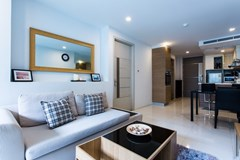 Condominium for sale Pattaya showing the living and dining areas