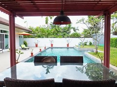 House for sale Huay Yai Pattaya showing the covered terrace
