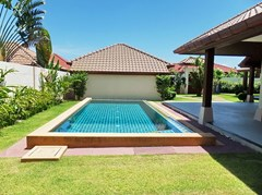 House for sale Huay yai Pattaya showing the pool and garden