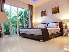 House for Sale at The Vineyard Pattaya showing the third bedroom with furniture