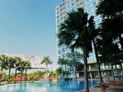 Condominium for Rent Pattaya showing the building and pool