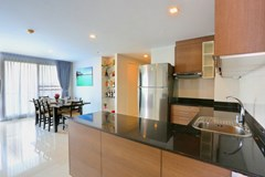 Condominium For Sale Pattaya showing the dining area from the kitchen