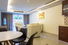 Condominium for sale Pattaya showing the dining and living areas