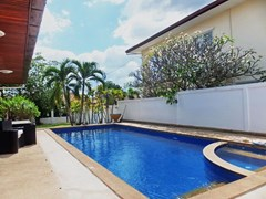 House for Sale Mabprachan Pattaya showing the terrace and pool