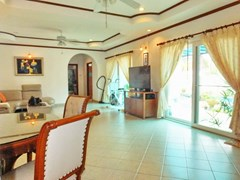 House for sale East Pattaya showing the open plan living with pool view