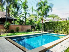 House for sale East Pattaya showing the private pool with garden