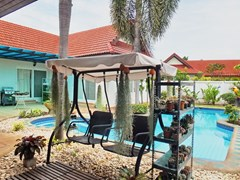 House for sale East Pattaya showing the terrace and pool